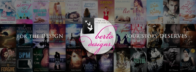 Berto Designs Facebook graphic with covers